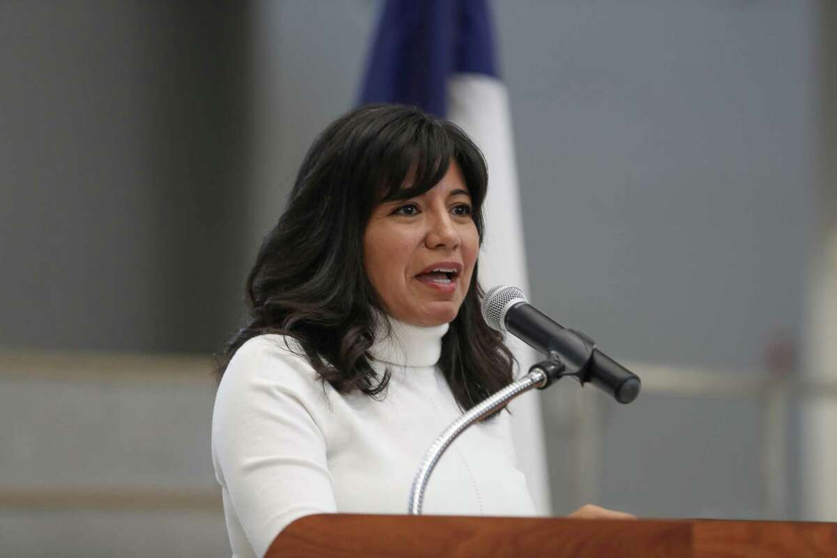 Houston Independent School District Board President Diana Dávila attends an HISD Police Department formal swearing-in ceremony at the High School for Law and Justice on Wednesday, Jan. 23, 2019, in Houston.