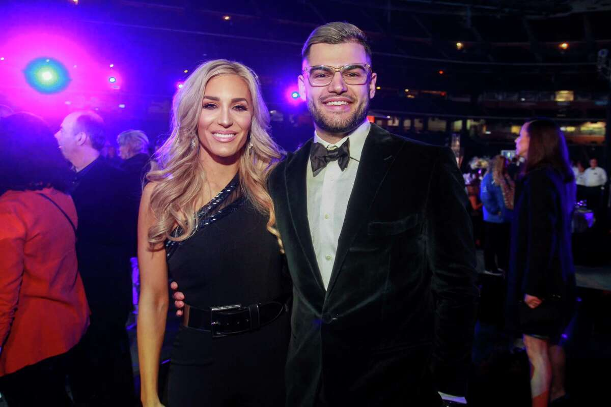 Kara and Lance McCullers Jr. of the Astros, at the Astros Diamond Dreams Gala at Minute Maid Park.