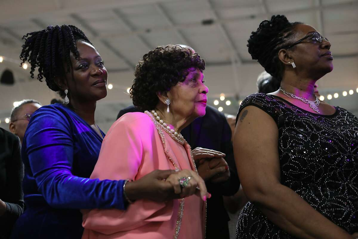 on Friday, Jan. 25, 2019 in Columbia, SC A group of women wait for California Senator Kamala Harris at the 37th Annual Alpha Kappa Alpha Pink Ice Gala sorority event in Columbia, SC. Harris became a member of Alpha Kappa Alpha sorority as an undergraduate when she attended Howard University.