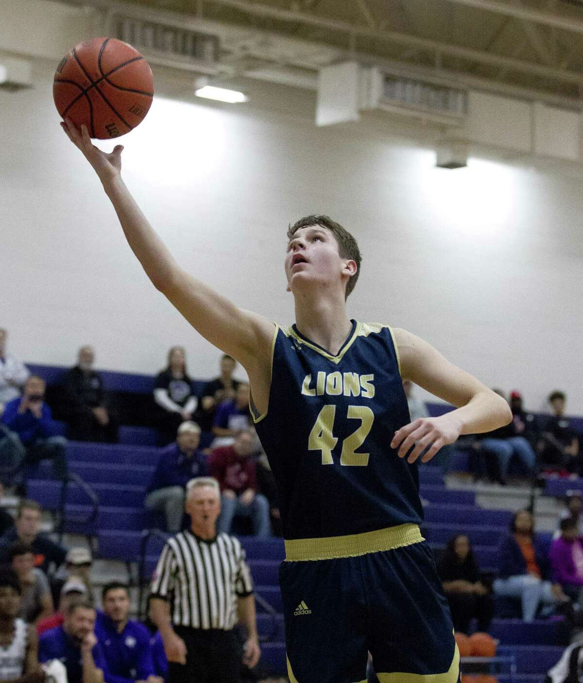 Lake Creek forward Hudson Boyd (42) is The Courier's Newcomer of the Year. In 2018-19, the sophomore averaged 12.1 points and 3.1 rebounds per game.