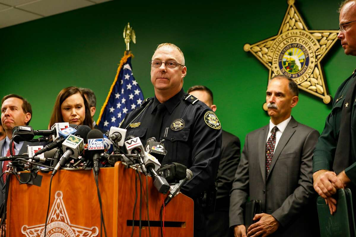 Police Chief Karl Hoglund speaks to reporters in Sebring, Fla., on Thursday, Jan. 24, 2019. A gunman identified as Zephen Xaver was arrested after fatally shooting five people in a bank on Wednesday, police said. (Eve Edelheit/The New York Times)