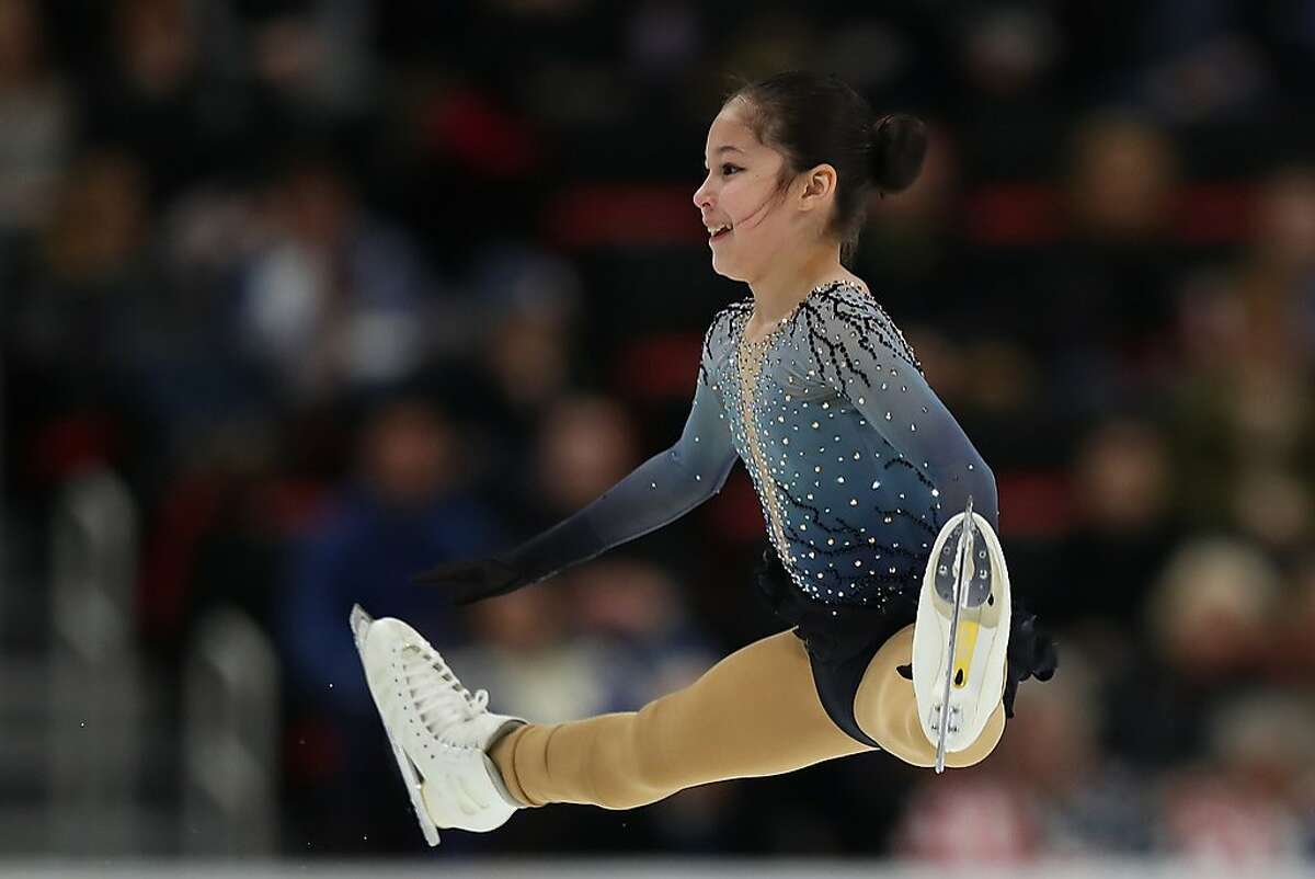 DETROIT, MICHIGAN - JANUARY 25: Alysa Liu competes in the Championship Ladies Free Skate during the 2019 U.S. Figure Skating Championships at Little Caesars Arena on January 25, 2019 in Detroit, Michigan. (Photo by Gregory Shamus/Getty Images)