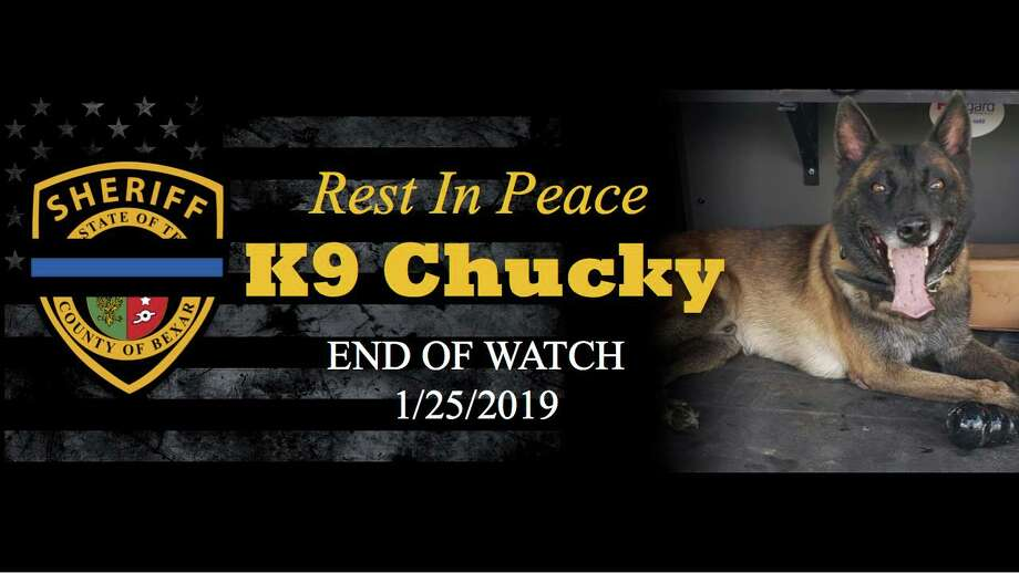 The Bexar County Sheriff's Office shares an emotional message on the passing of their K9 Deputy Chucky who was killed. Photo: Bexar County Sheriff's Office