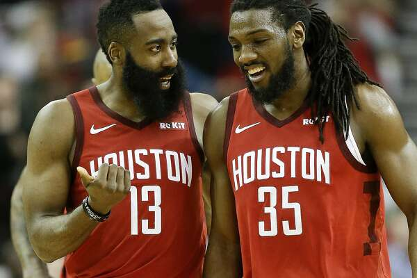 d196f609d6a6 1of2Houston Rockets guard James Harden (13) talks with forward Kenneth  Faried late in the second half of an NBA basketball game against the  Toronto Raptors