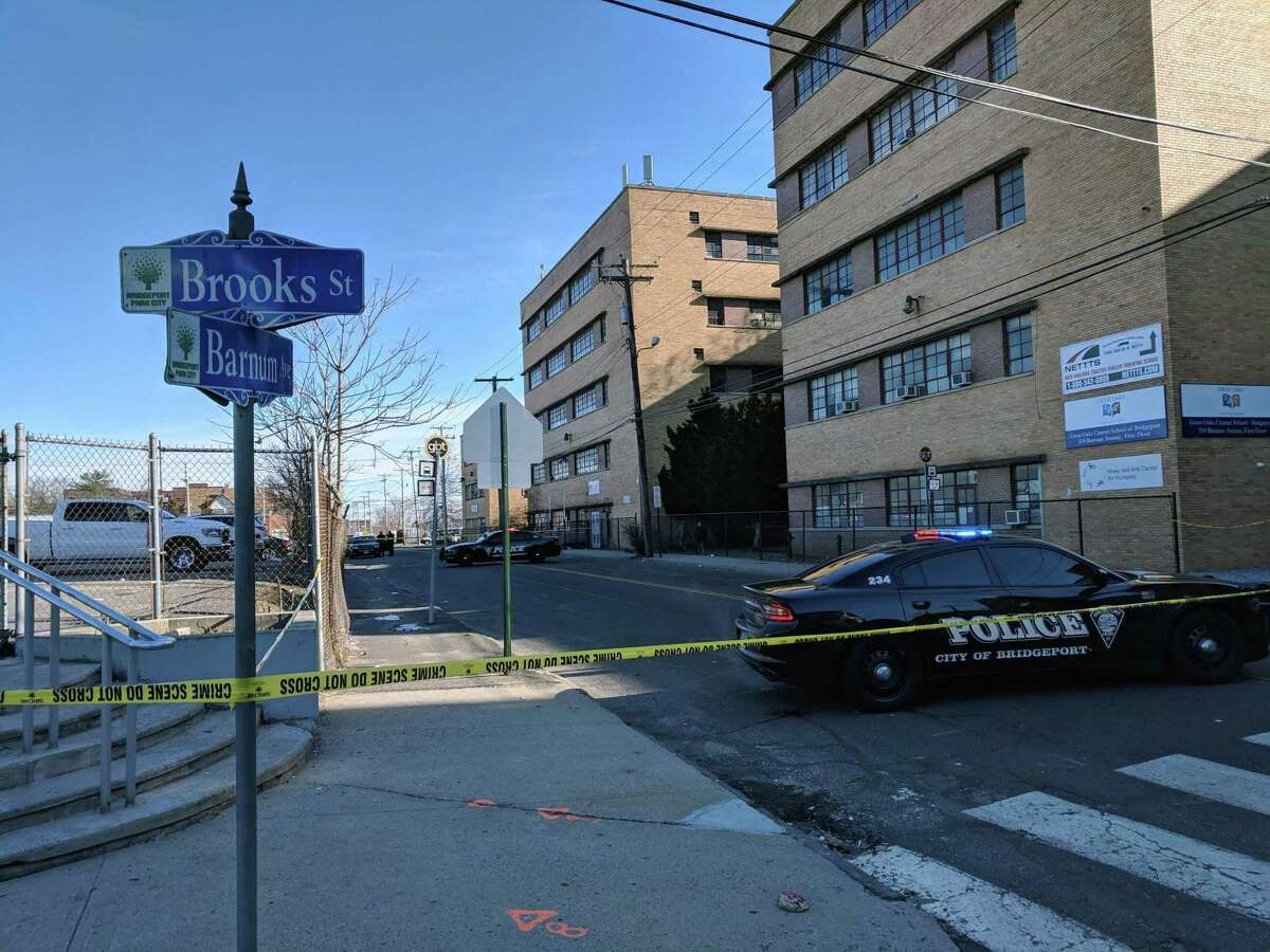 One person was hospitalized in serious but stable condition after a shooting around 11 a.m. on Barnum Avenue in Bridgeport, Conn., on Jan. 26, 2019.