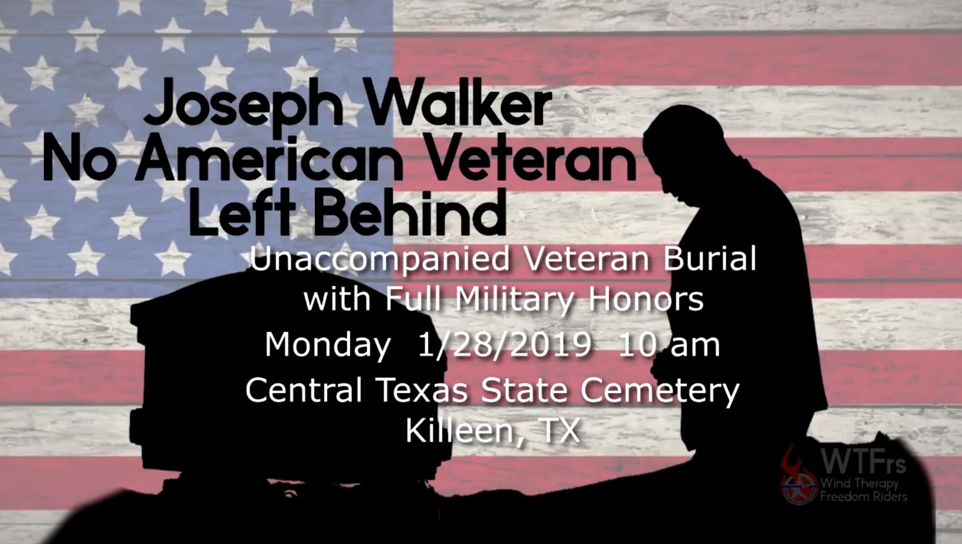Seruan kepada publik untuk menghadiri pemakaman bagi veteran tanpa pendamping membuat pengendara motor yang penuh keyakinan di jalan