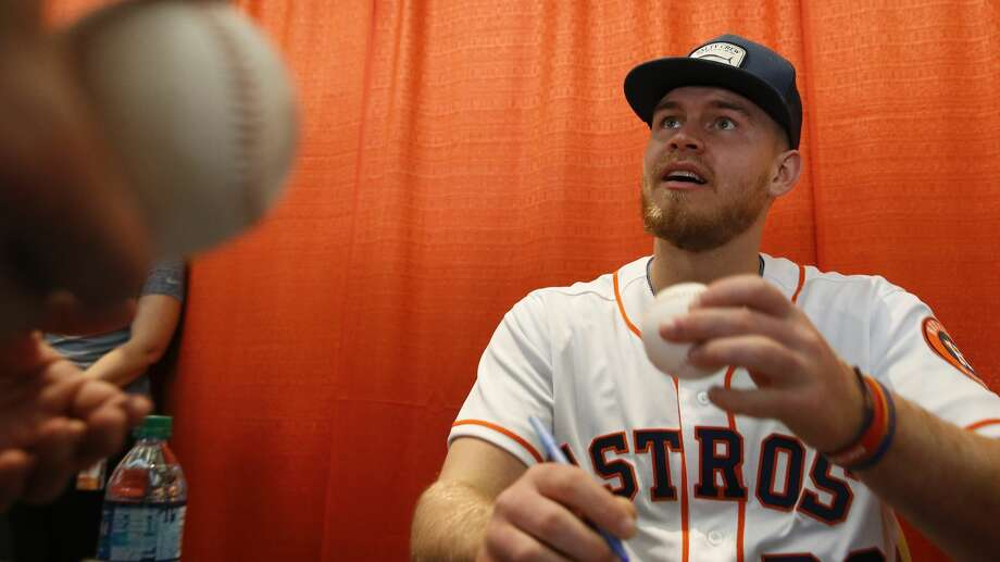 PHOTOS: Astros FanFest Houston Astros outfielder Seth Beer signs autographs at the Astros Fan Fest on Saturday, Jan. 26, 2019, in Houston. Browse through the photos of the 2019 Astros FanFest. Photo: Yi-Chin Lee/Staff Photographer