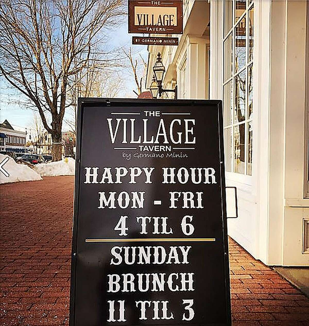 The Village Tavern on Main Street in Ridgefield, Conn.