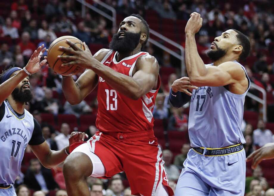 James Harden and the Rockets will play at Memphis on Wednesday night. Photo: Brett Coomer, Houston Chronicle / Staff Photographer / © 2019 Houston Chronicle