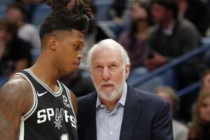 First-round pick Lonnie Walker IV had seven points and five rebounds in his first meaningful NBA minutes Saturday.