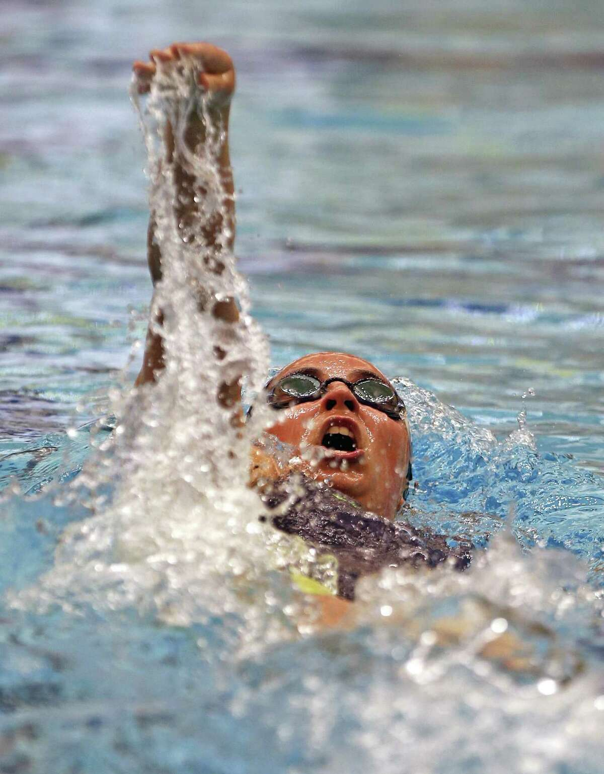 Katelyn Bartley,Reagan, competes in 200 Yard IM from the District 25-6A swimming championships at Davis Natatorium on Saturday, January 2, 2019