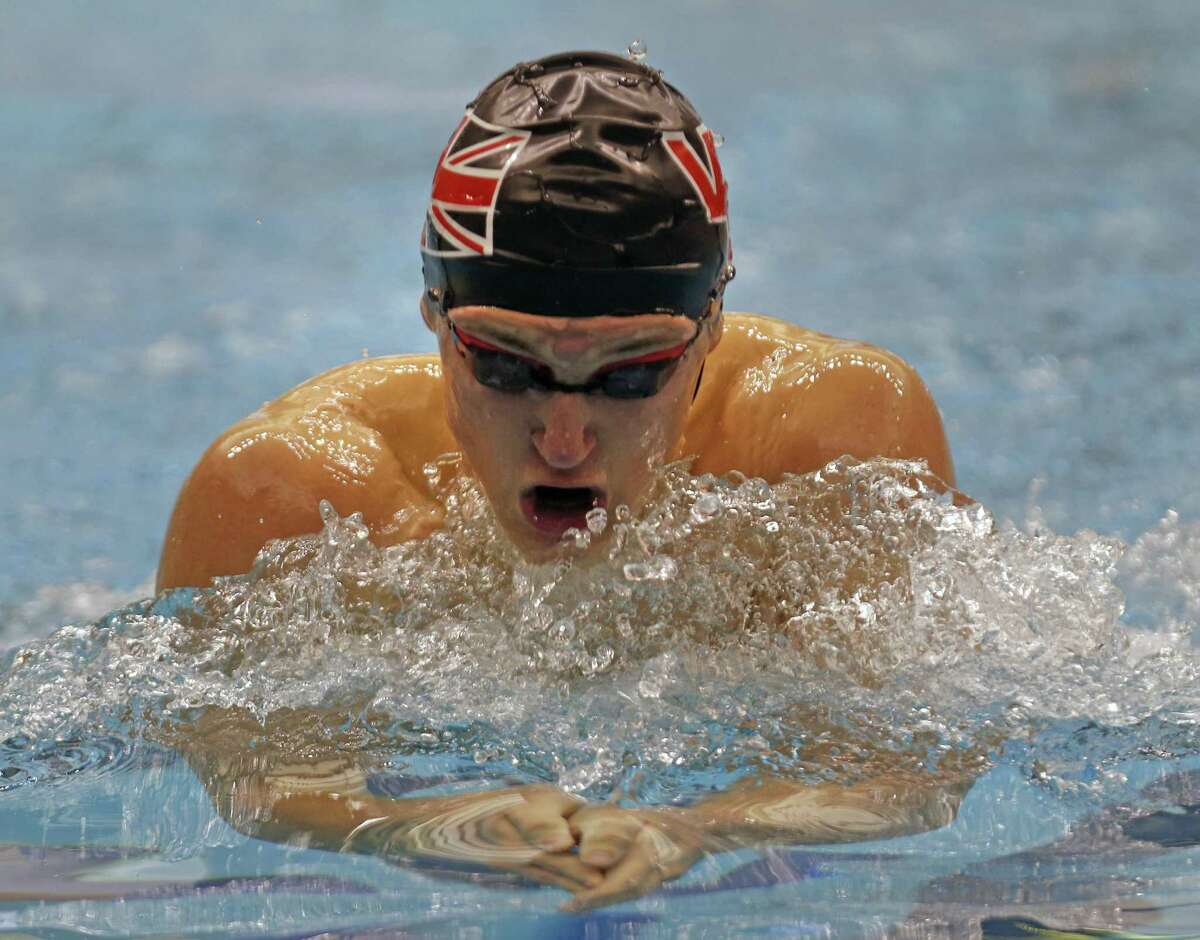 Jake Peterson, Churchill competes in Boys 200 Yard IM from the District 25-6A swimming championships at Davis Natatorium on Saturday, January 2, 2019