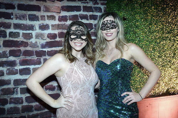 "Jacie Apodaca and Matti Gonzalez were at Baptist Hospitals of Southeast Texas Foundation's annual fundraising gala, La Soiree. This year's black tie event theme was ""A Venetian Masquerade."" Photo taken Saturday, January 26, 2019 Photo by Kim Brent/The Enterprise"