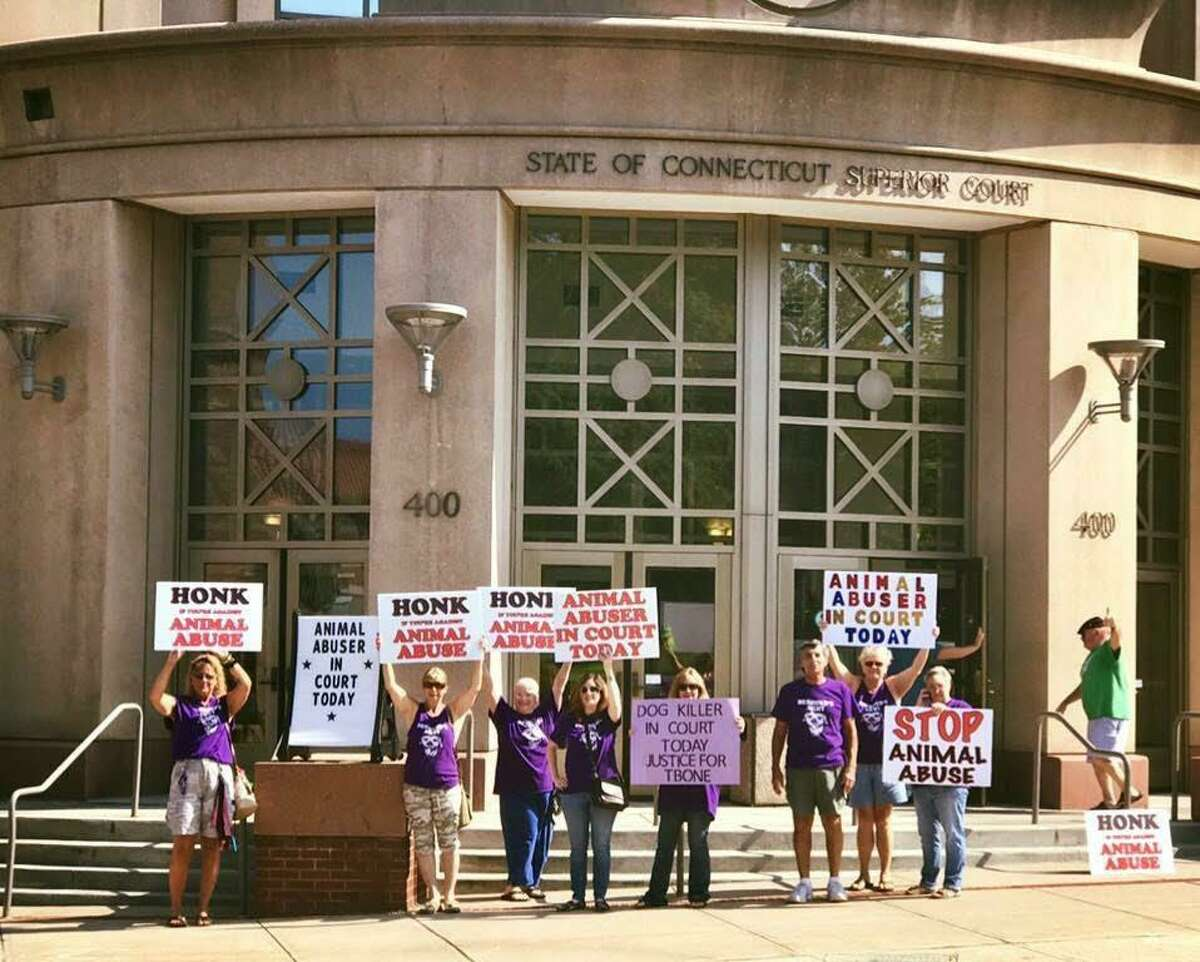 """""""Desmond's Army,"""" are volunteers who track animal abuse cases around the state and attend court proceedings."""