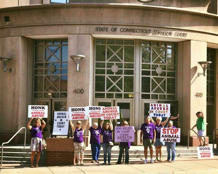 """""""Desmond's Army,"""" are volunteers who track animal abuse cases around the state and attend court proceedings. Photo: Contributed"""