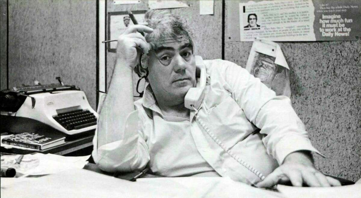 """This image released by HBO shows journalist Jimmy Breslin who is the focus of the HBO documentary """"Breslin and Hamill: Deadline Artists,"""" premiering on Jan. 28. (Brian Hamill/HBO via AP)"""