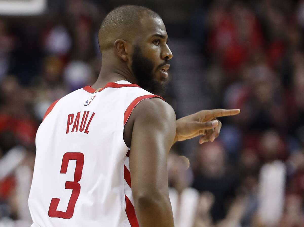 In his first game since Dec. 20, Chris Paul totaled 12 points and six assists Sunday night in the Rockets' 103-98 win over the Magic.