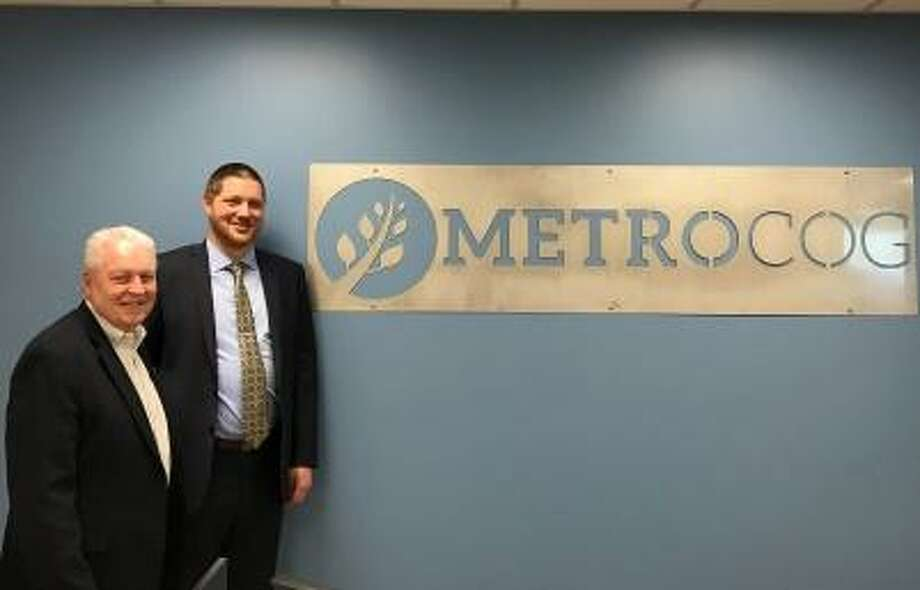 MetroCOG Chairman Mike Tetreau and MetroCOG Executive Director Matt Fulda at MetroCOG's offices in Bridgeport. Photo: Contributed Photo