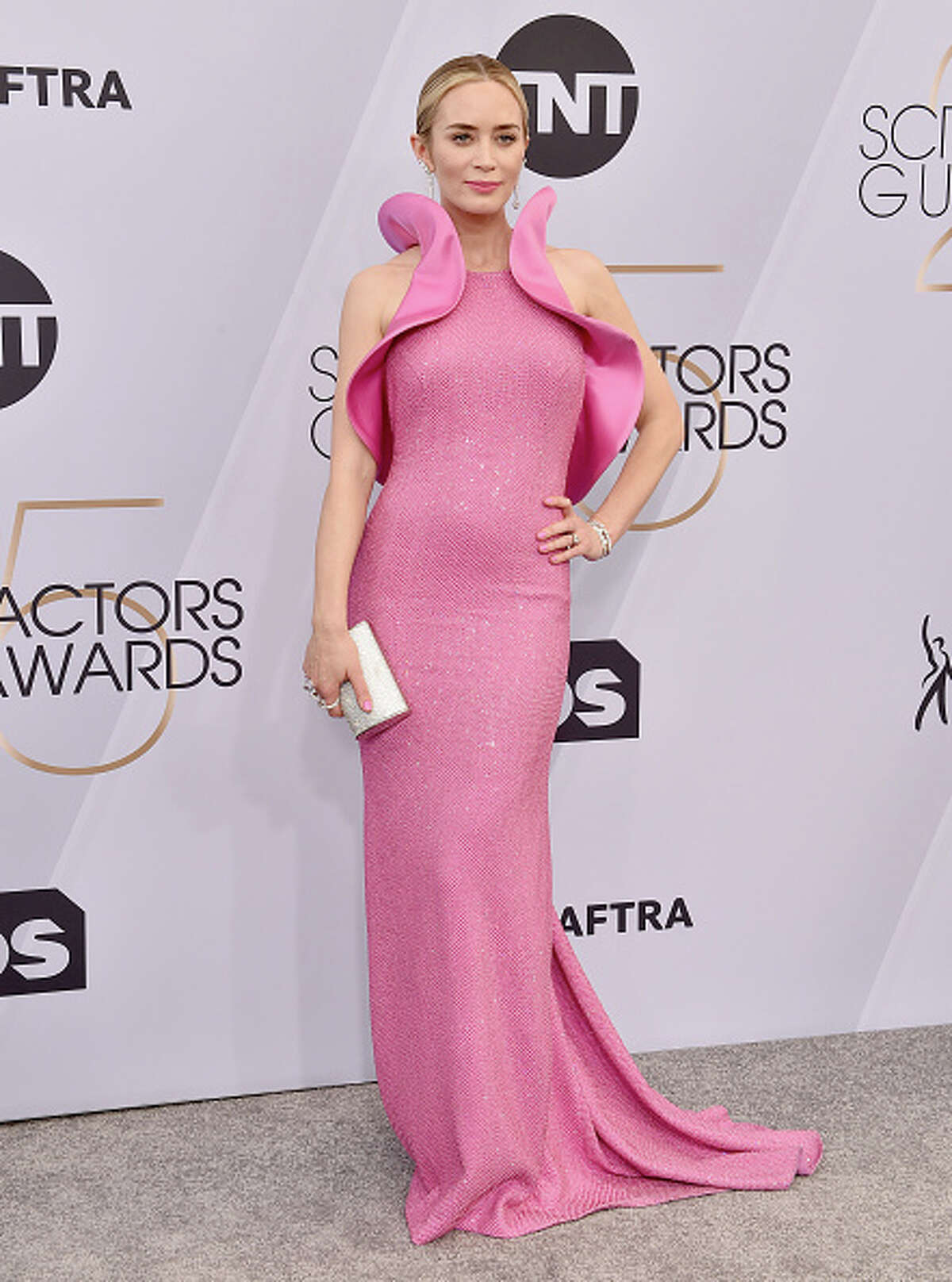 LOS ANGELES, CA - JANUARY 27: Emily Blunt attends the 25th Annual Screen Actors Guild Awards at The Shrine Auditorium on January 27, 2019 in Los Angeles, California. (Photo by Axelle/Bauer-Griffin/FilmMagic)