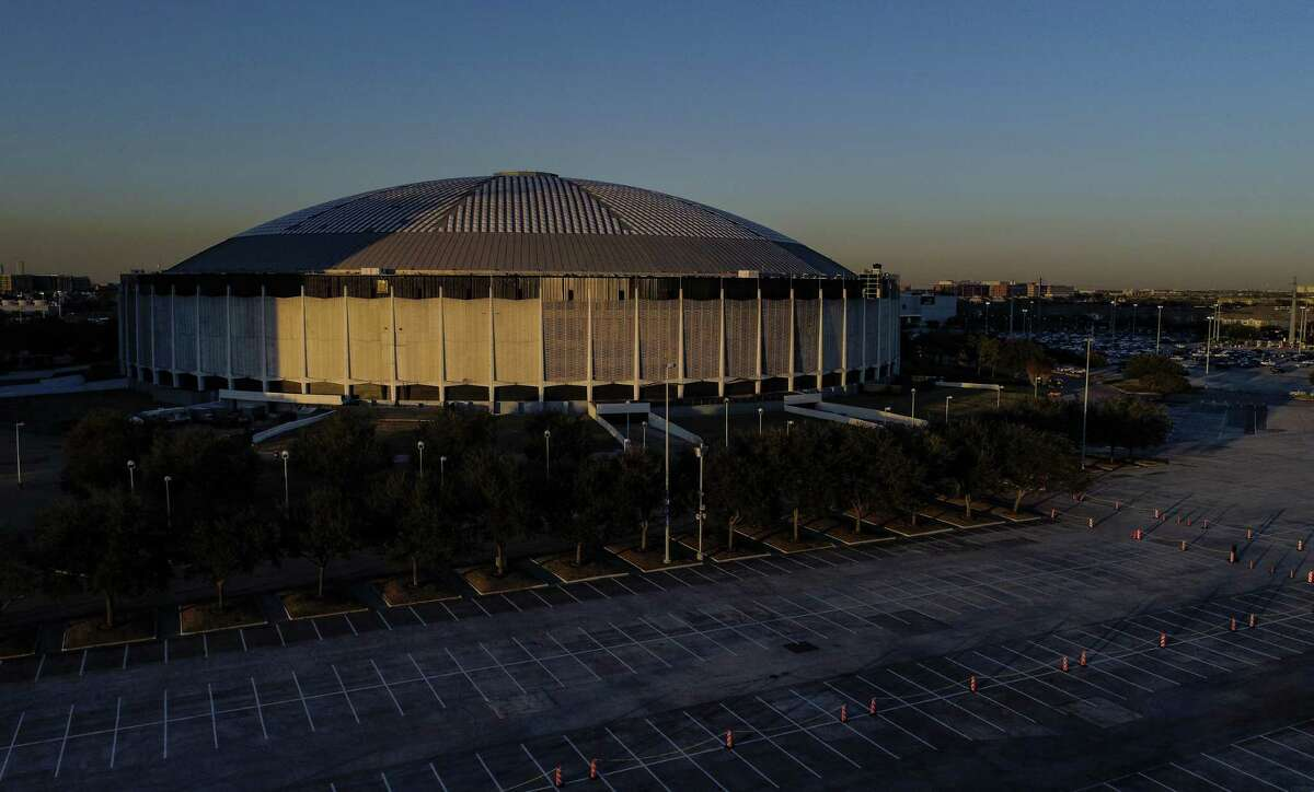 The Houston Astrodome stands next to NRG Stadium at NRG Center, Thursday, Jan. 24, 2019 in Houston. New Harris County Judge Lina Hidalgo said Thursday that the redevelopment plan set forth by her predecessor, Ed Emmett, may be underfunded.