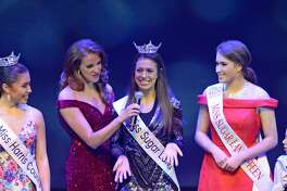 Local title holders participate in the Miss Katy / Miss Bay Area pageant at the Midtown Arts and Theater Center in Houston, on Saturday, January 26, 2019.