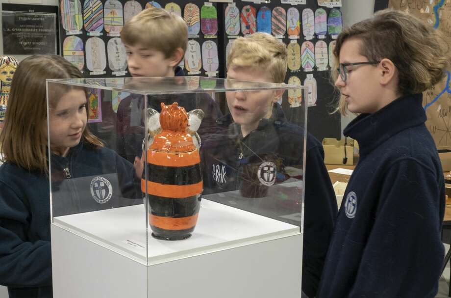 Students look over some of the displays at the Egypt Museum, designed by Trinity School students, first grade through seniors, as part of the sixth grade studies on ancient civilizations. 01/28/19  Tim Fischer/Reporter-Telegram Photo: Tim Fischer/Midland Reporter-Telegram