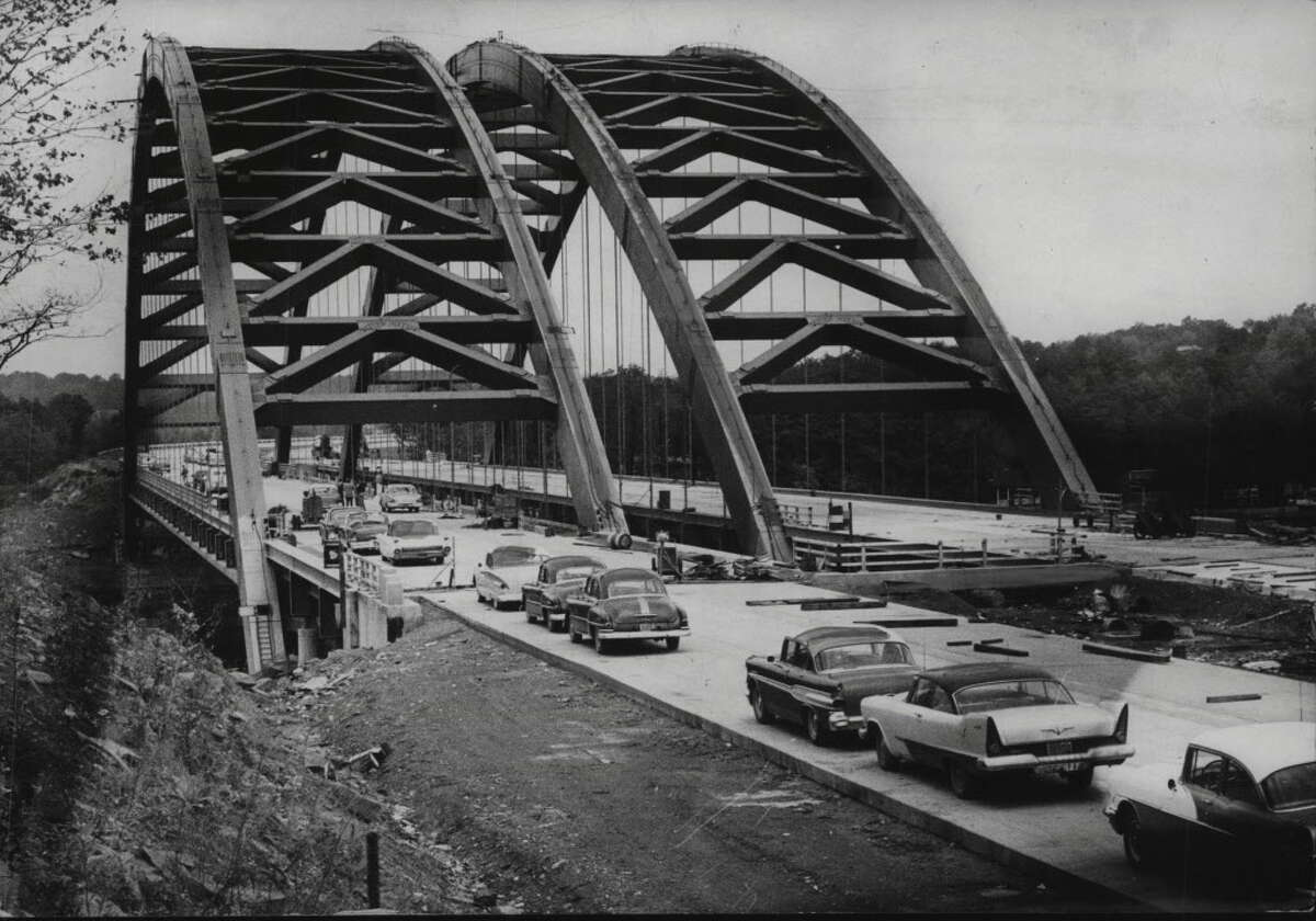 Click through the slideshow for photos of the Northway through the years. Northway highway bridge over Mohawk River, New York. October 12, 1959.
