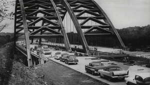 Northway highway bridge over Mohawk River, New York. October 12, 1959 (Times Union Archive)
