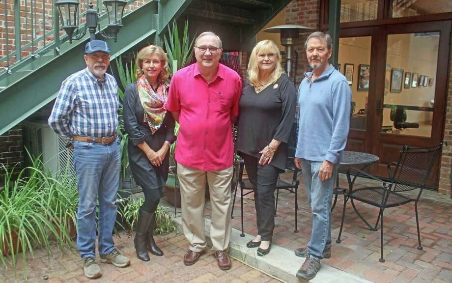 Pictured left to right are Juan Cantavella, Debra Riley, Beau Crump, Lois Blackburne and Tom LaRock who make up the Houston Area Oil Painters of America. The group has their first exhibition Feb. 8-10 at the Conroe Art League gallery in downtown Conroe. Photo: Courtesy Photo