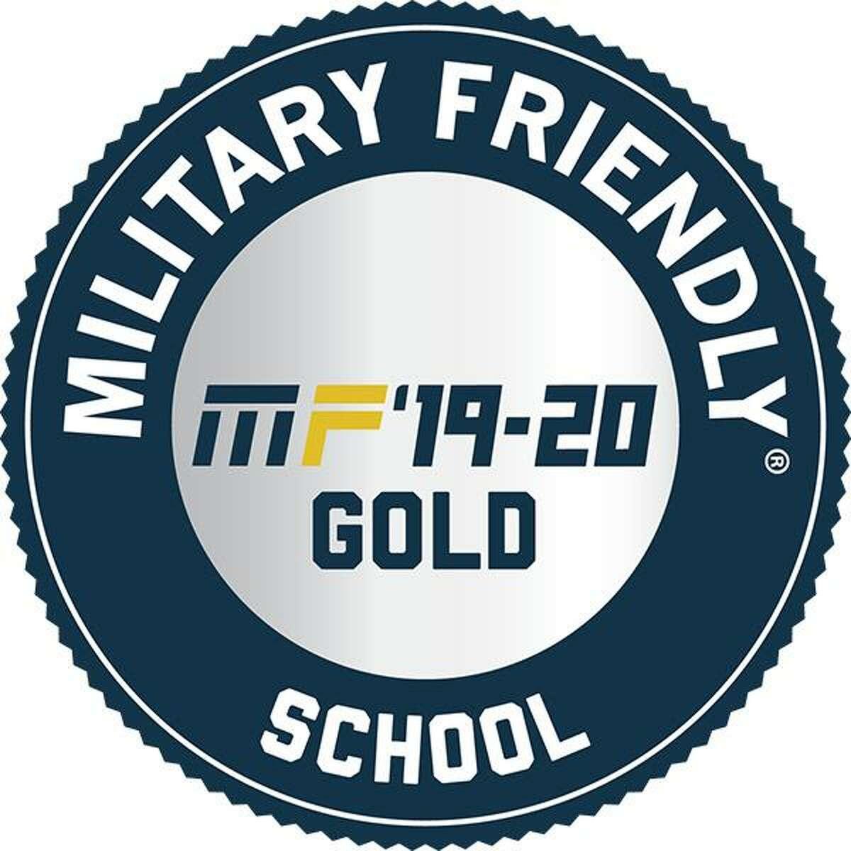 Military Friendly School award for 2019-2020