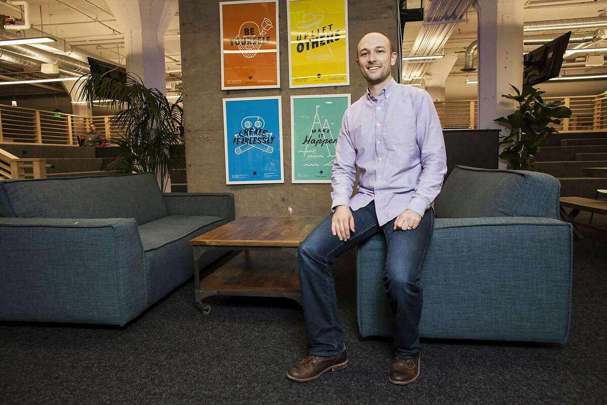 FILE -- Logan Green, chief executive of the ride-hailing service Lyft, at the company's headquarters in San Francisco, Jan. 6, 2016. Green, who has mostly shunned public attention, is racing in 2019 to take Lyft public before the much larger Uber gets there. (Ramin Talaie/The New York Times)