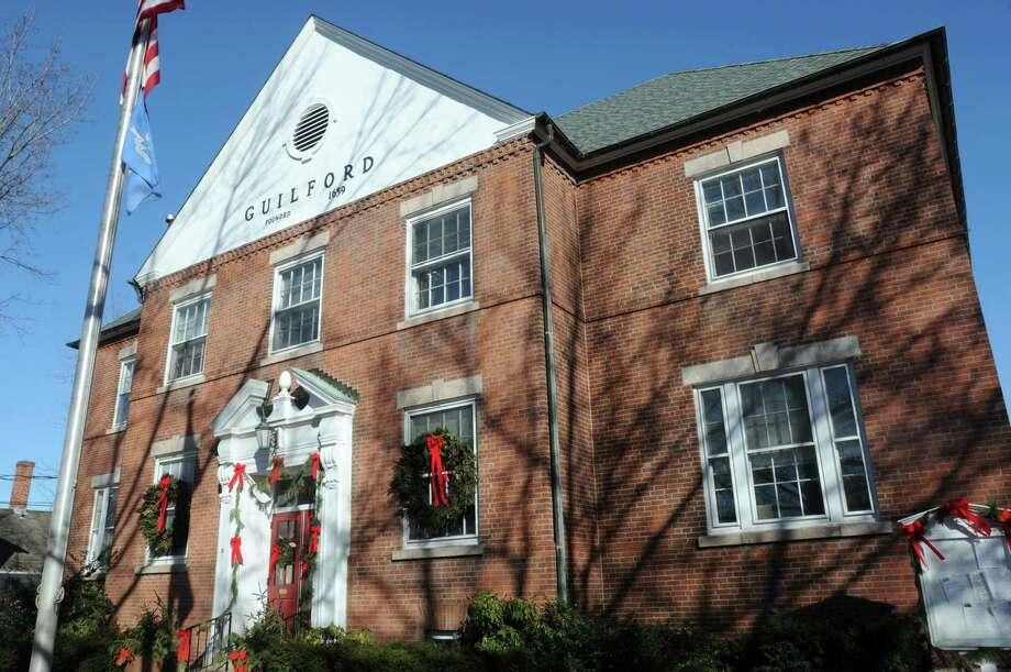 The Guilford Town Hall on January 8, 2014. Photo: Mara Lavitt / Hearst Connecticut Media File Photo / Mara Lavitt