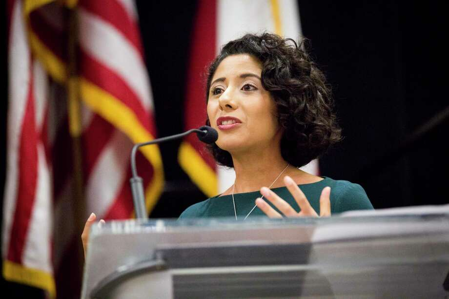 Newly elected Harris County Judge Lina Hidalgo has launched an online survey seeking input and advice from county residents. Photo: Marie D. De Jesús, Houston Chronicle / Staff Photographer / © 2019 Houston Chronicle