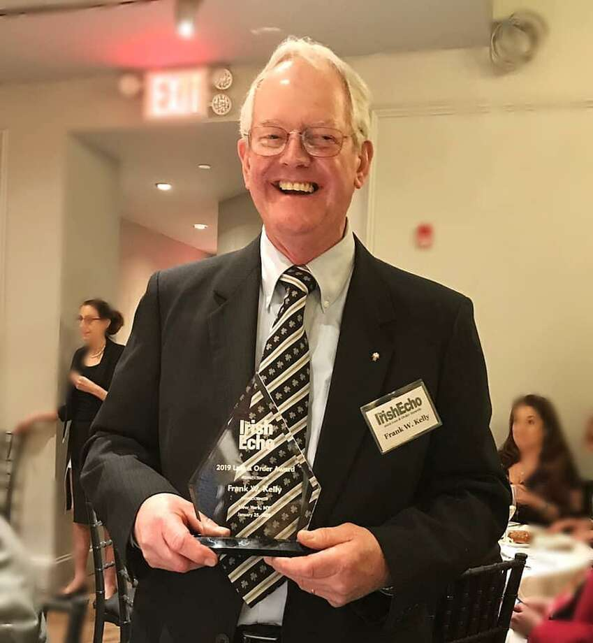 Retired police detective Frank Kelly was presented with a Law and Order Award by an Irish-American organization. Photo: / Contributed: Irish Echo