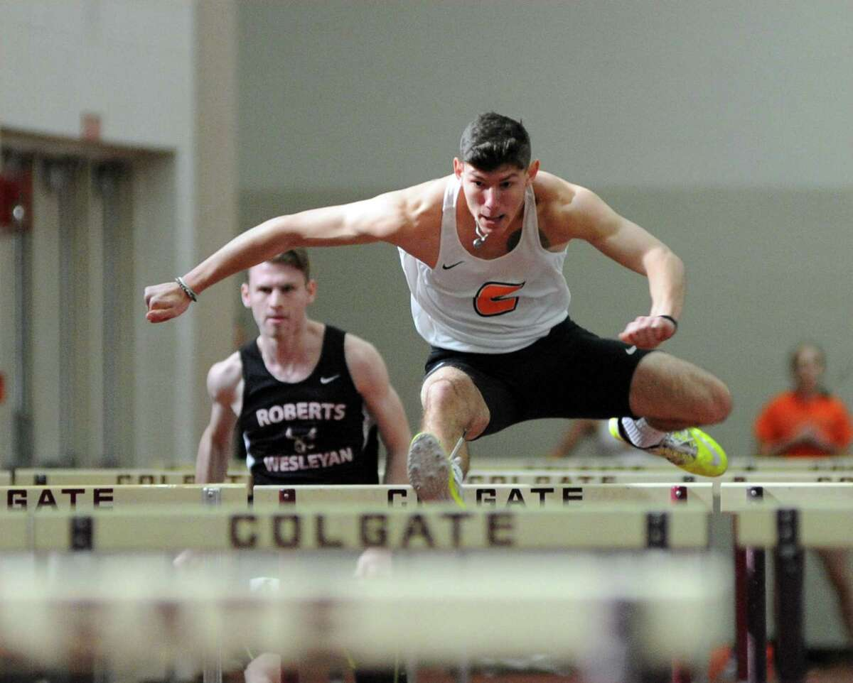 Cobleskill-Richmondville High School graduate Zach Haskin of the SUNY Cobleskill indoor track team. (Courtesy of SUNY Cobleskill)