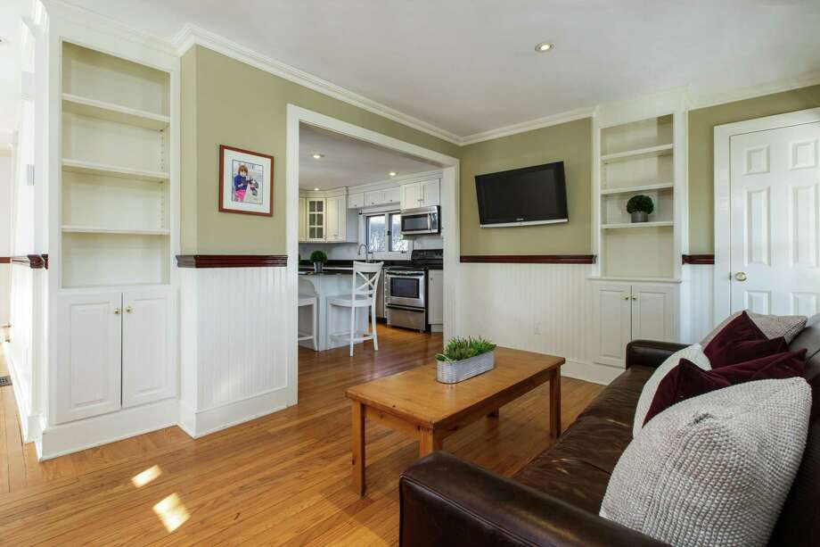 The turn-key three-bedroom at 12 Roton Ave. features built-ins. Photo: Houlihan Lawrence / Michael W Smith