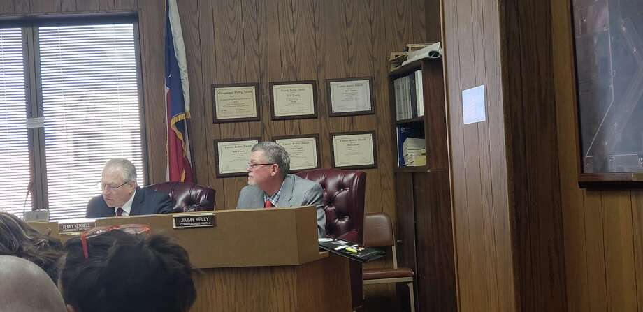 This was the first meeting for new Precinct 4 Commissioner Jimmy Kelly. Photo: Ellysa Harris/Plainview Herald