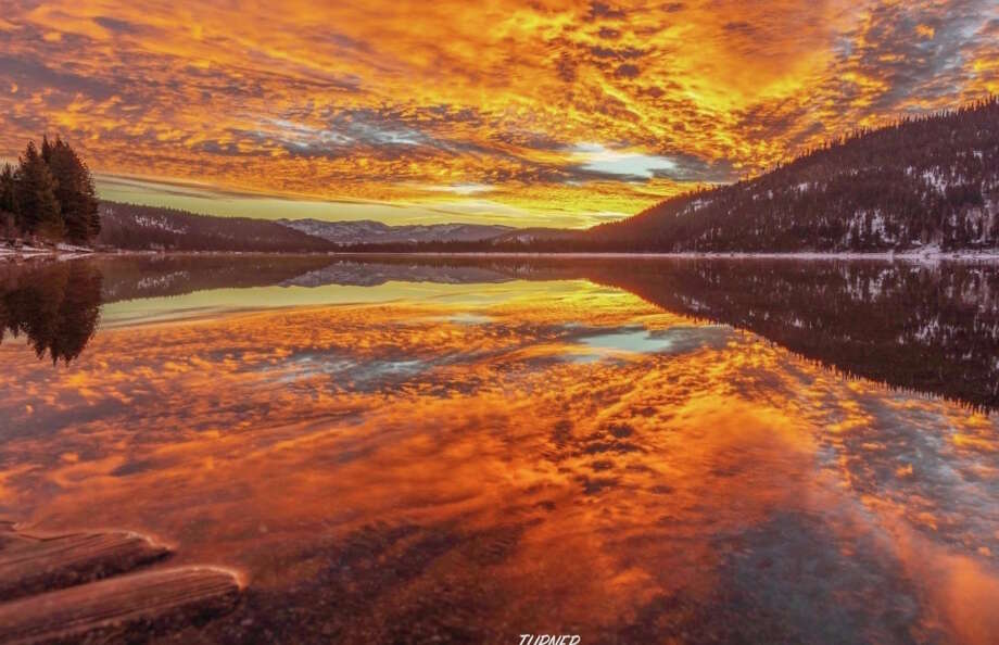 The sunrise seen over Donner Lake on Monday, Jan. 28, 2019. Photo: C Turner