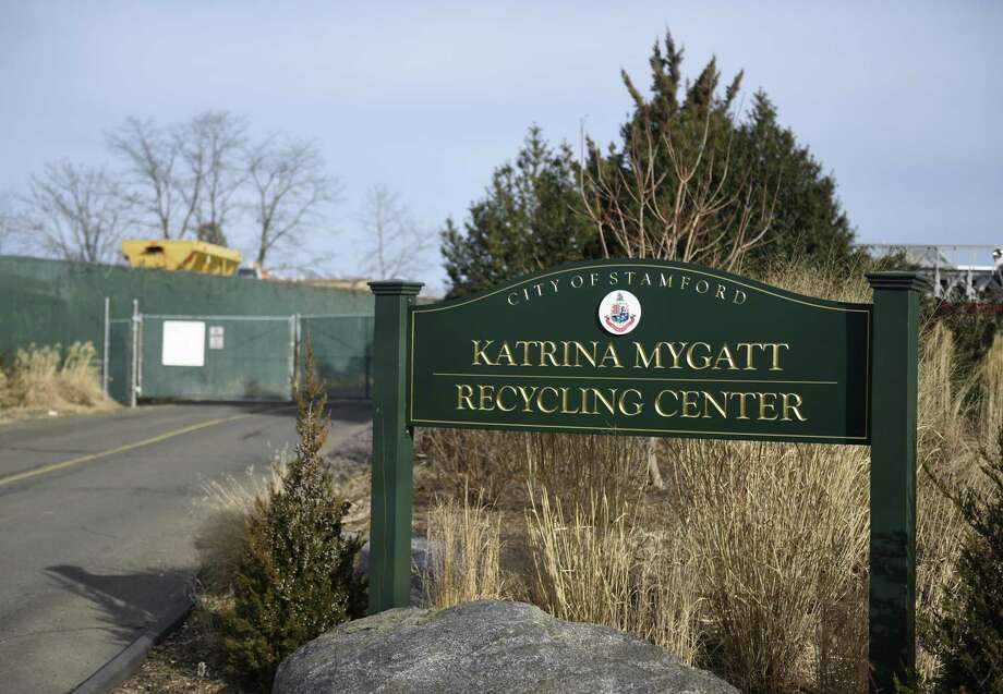 The Katrina Mygatt Recycling Center on Magee Avenue in Stamford, photographed on Monday. The city is trying to get residents to bring corrugated cardboard to the recycling center because it's the only recyclable for which there is a market. Photo: Tyler Sizemore / Hearst Connecticut Media / Greenwich Time