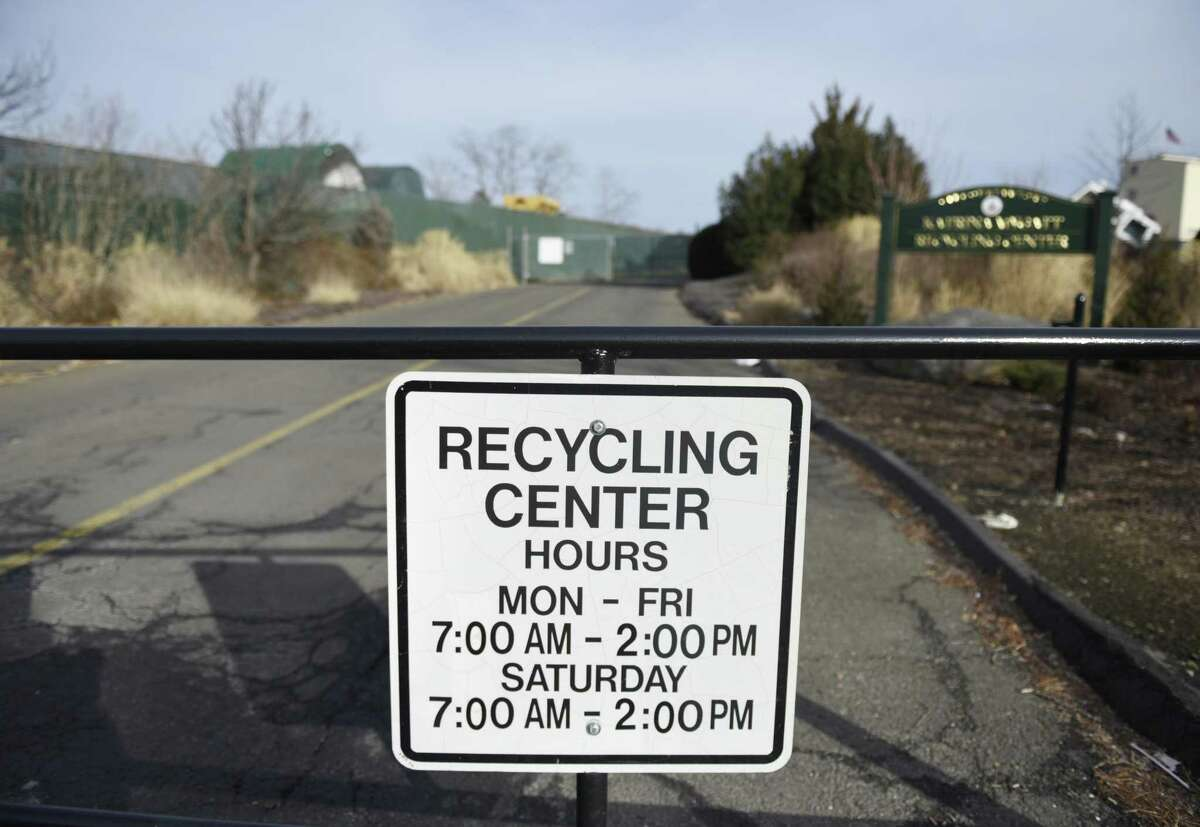 The Katrina Mygatt Recycling Center. The city gets $15 a ton for cardboard, but has to pay for a contractor to haul away cans, bottles, newspapers, and other recyclables.