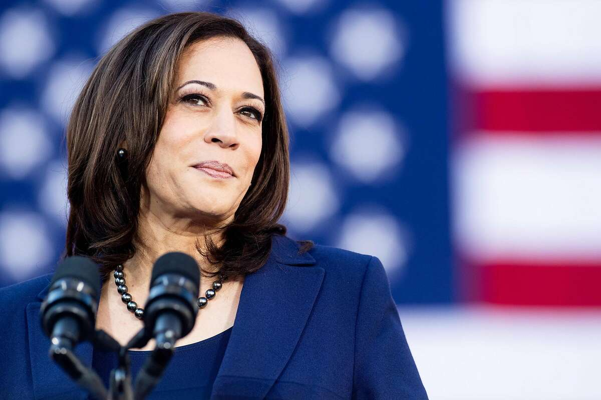 (FILES) In this file photo taken on January 27, 2019 California Senator Kamala Harris speaks during a rally launching her presidential campaign in Oakland, California. - US Senator Kamala Harris faces questions from American voters January 28, 2019 as an official White House candidate, a day after formally declaring her 2020 bid to become America's first black female president.By launching her campaign early -- a year before any primary votes are cast -- the California Democrat leapfrogs several party luminaries waiting in the wings, and a few who have already entered the race, to become the de facto frontrunner in a burgeoning field that may ultimately feature dozens of candidates seeking to oust President Donald Trump. (Photo by NOAH BERGER / AFP)NOAH BERGER/AFP/Getty Images