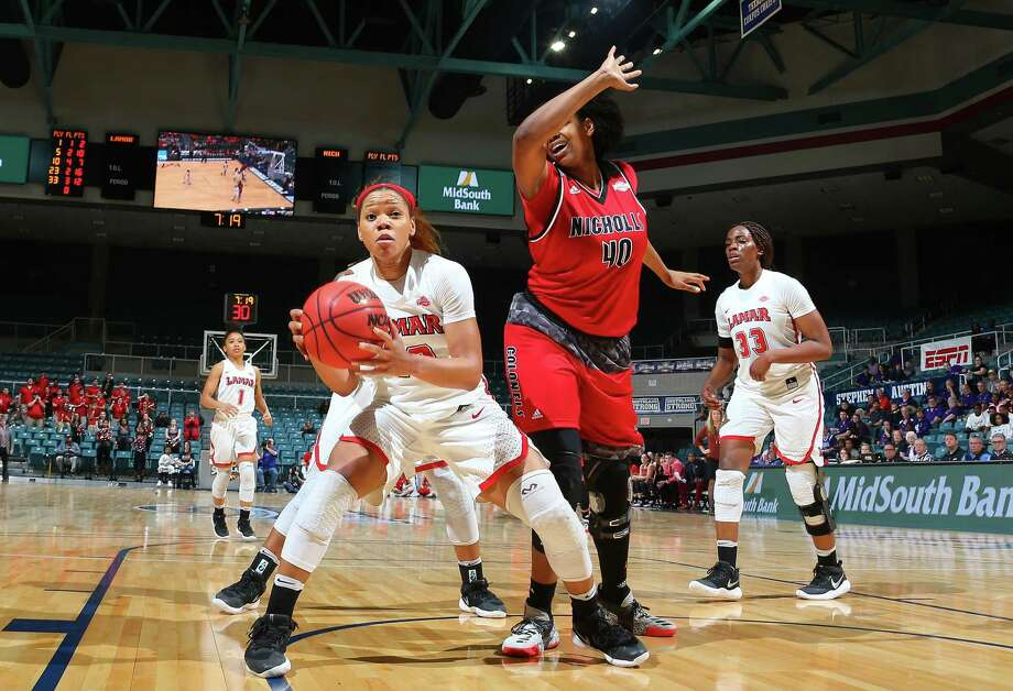 KATY, TX MARCH 10: Southland Conference Women's Basketball Game 5 Lamar vs Nicholls at Merrell Center in Katy on March 10, 2018 in Katy, Texas Photo: Rick Yeatts Photo: Rick Yeatts / 2018 Rick Yeatts