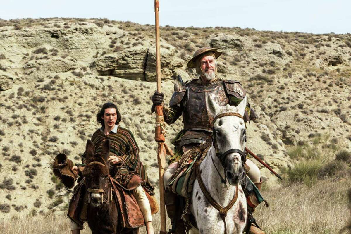 """Adam Driver, left, and Jonathan Pryce in a scene from Terry Gilliam's """"The Man Who Killed Don Quixote."""""""