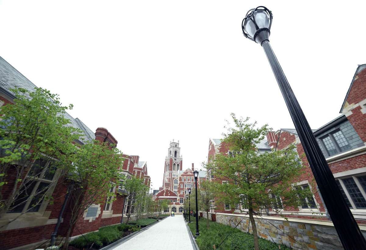 A walkway at Yale University in New Haven.