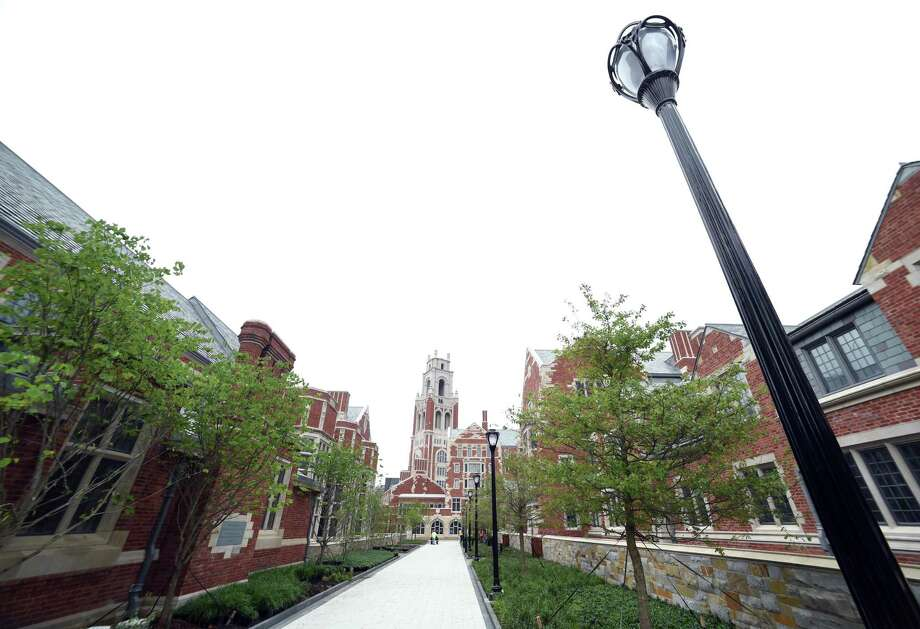 A walkway at Yale University in New Haven. Photo: Arnold Gold / Hearst Connecticut Media / New Haven Register