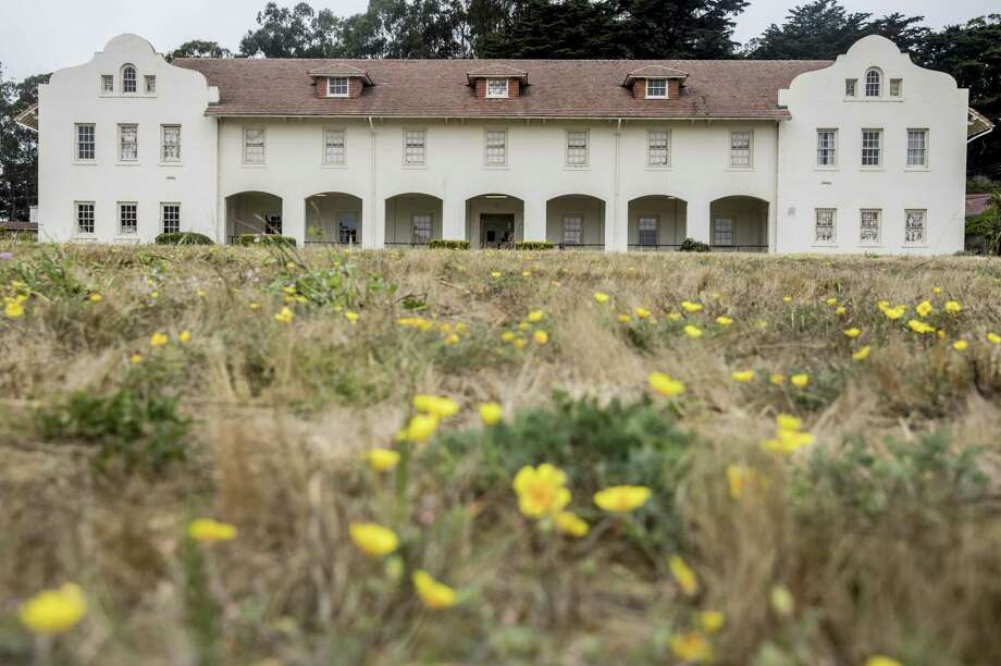 Austere Spanish-style barracks are among Fort Scott's 22 historic buildings at the Presidio. Photo: Jessica Christian / The Chronicle 2018 / ONLINE_YES