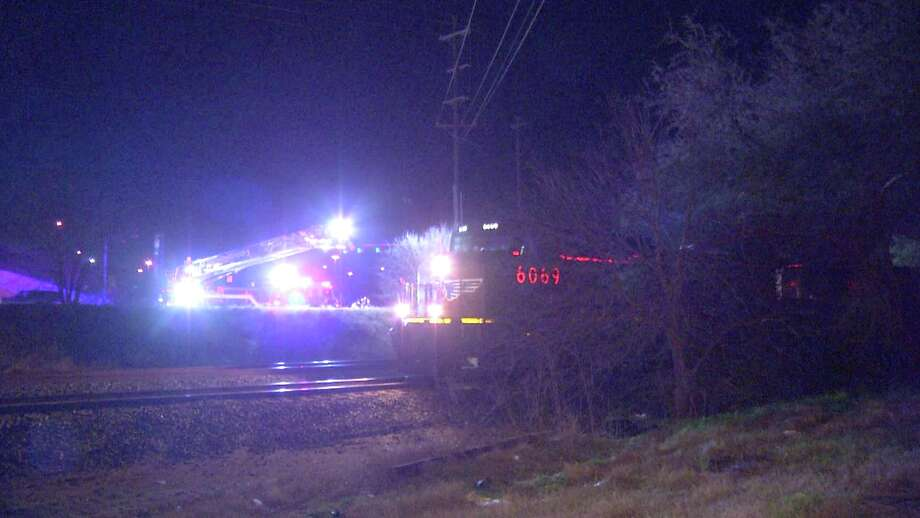 The woman drove off the road near Farm-to-Market Road 78 and Loop 410 at about 1 a.m. and hit an embankment. Police said the vehicle flipped over and came to rest near some railroad tracks. Photo: Ken Branca