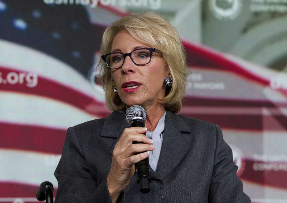 Education Secretary Betsy DeVos Photo: Jose Luis Magana / Associated Press / Copyright 2018 The Associated Press. All rights reserved