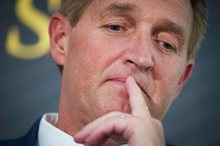 FILE - In this Oct. 2, 2018 file photo then Sen. Jeff Flake, R-Ariz. participates in a forum in Washington. Photo: Cliff Owen, AP / Copyright 2018 the Associated Press. All Rights Reserved.