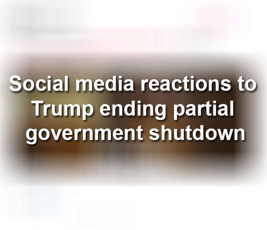 CLICK THROUGH THE SLIDESHOW FOR SOCIAL MEDIA REACTIONS TO THE END OF THE GOVERNMENT SHUTDOWN. Photo: Twitter